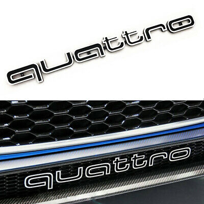 £19.99 • Buy Quattro Emblems Badge Car 3D Sticker ABS Grill Lower Trim For Audi All Model VE