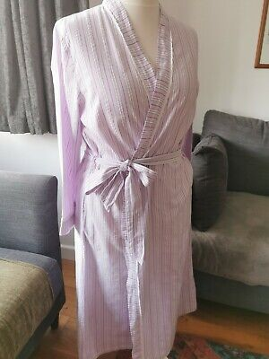 AU9.44 • Buy Ladies Full Length Cotton Dressing Gown Size 18