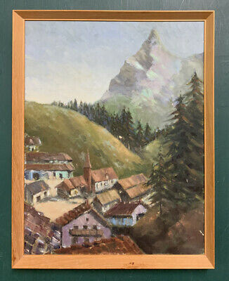 £1.20 • Buy Original Mid Century French Impressionist Oil On Canvas Painting