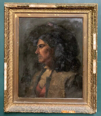 £156 • Buy Large 17th/18th Century Italian Portrait Of A Gentleman Oil On Canvas Painting