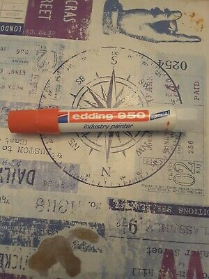 £4.15 • Buy EDDING 950 INDUSTRY PAINTER - SOLID MARKER PEN - PERMANENT PAINT STICK - Red