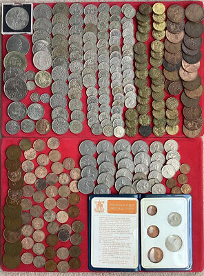 £7.50 • Buy British Coin Collection, Crown To Farthing, Silver 3d First Decimal Set  Etc