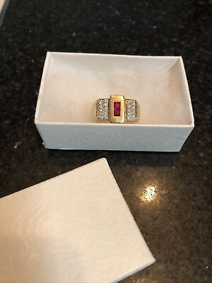 AU2250 • Buy Gorgeous Mens Diamond And Ruby Ring With Valuation