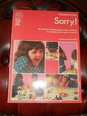 £11.99 • Buy Waddingtons Sorry - 1973 Boxed Board Game, Complete Retro Game UK