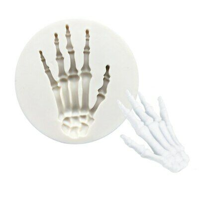 £2.35 • Buy Skeleton Hand Silicone Mould Halloween Cake Fondant Icing Decor Molds Topper