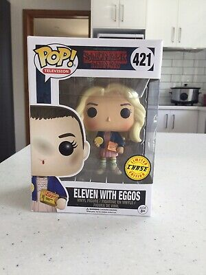 AU47.99 • Buy Funko Pop - STRANGER THINGS - ELEVEN WITH EGGOS - CHASE #421 Pop Vinyl Free Post