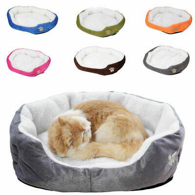 £10.99 • Buy Pet Dog Cat Bed Puppy Cushion House Soft Warm Kennel Mat Blanket Washable Kitten
