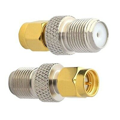 £3.95 • Buy SMA Male  To F-Type Female Straight RF Adapter Connector X 2 Pcs  - UK Seller