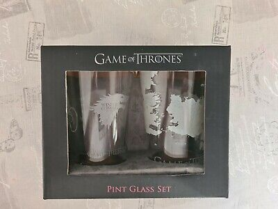 £19.99 • Buy Game Of Thrones Pint Glass Set New In Box Display