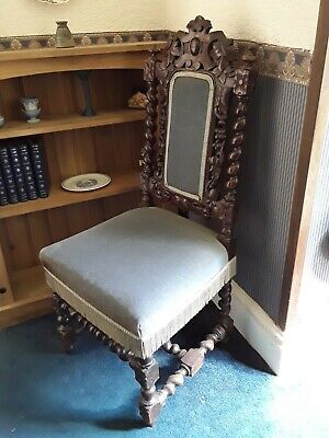 £15 • Buy Carved Upholstered Hall Chair (single)