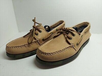 £21.90 • Buy SPERRY TOP-SIDER A/O 2-Eye Brown Leather Sz 8 M Men Boat Shoes