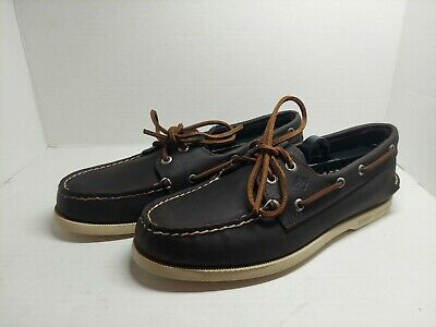£21.90 • Buy SPERRY TOP-SIDER A/O 2-Eye Dark Brown Leather Sz 8 M Men Boat Shoes