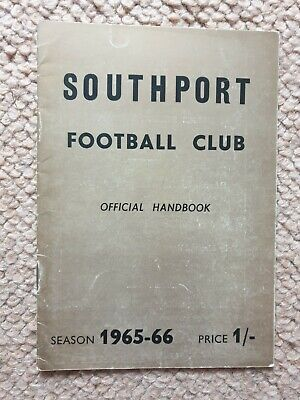 £8 • Buy Southport FC Official Handbook 1965-66