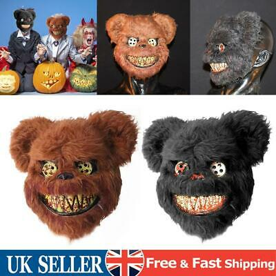£8.54 • Buy Halloween Bloody Teddy Bear Mask Masquerade Scary Plush Mask Performance Party