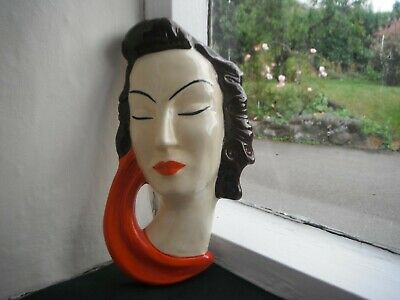 £35 • Buy CLARICE CLIFF  STYLE FACE MASK By MOORLAND POTTERY -VERY RARE!!