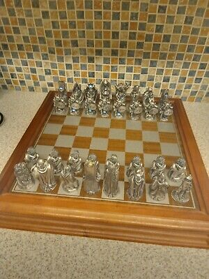 £90 • Buy Lord Of The Rings 1991 Danbury Mint Chess Set Plated  Aurora Borealis Tolkien