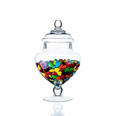 £23.02 • Buy Clear Glass Apothecary Jars Heart Shape Small Candy Buffet Display Elegant St...