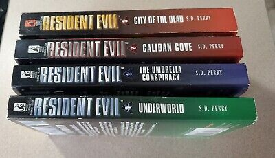 AU43.93 • Buy Resident Evil Series Book Lot (1-4) S.D. Perry Video Game Novels.