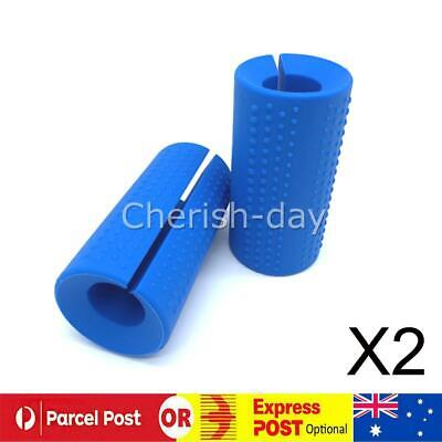 AU17.99 • Buy 1 Pair FITS Thick Fat Barbell Silicone Grips Home Gym Arm Wrap Bar Dumbbell Grip