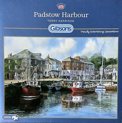 """£4.95 • Buy Gibsons 1000 Piece Jigsaw Puzzle - """"Padstow Harbour"""" By Terry Harrison"""