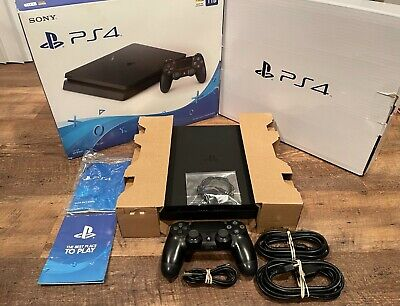 AU439.62 • Buy Sony PS4 Slim 1TB Jet Black Console With Box --- FREE SHIPPING -