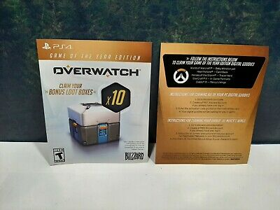 AU18.63 • Buy Overwatch Game Of The Year Edition X10 Bonus Loot Boxes Sony PlayStation 4 PS4