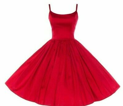 AU143.48 • Buy Pinup Girl Clothing Couture PUG Jenny Dress In Red Size Large