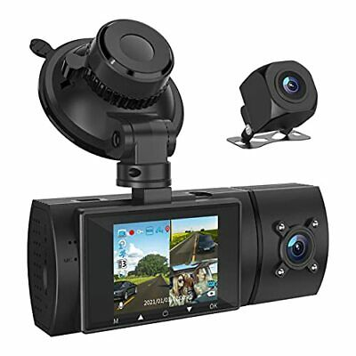 AU137.48 • Buy 3 Channel 1080P FHD Dash Cam With GPS Front Inside And Rear Car Camera Record...