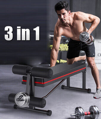 £49.99 • Buy Weight Sit Up Bench Dumbbell Exercise Workout Leg Extension Leg Strength Fitness