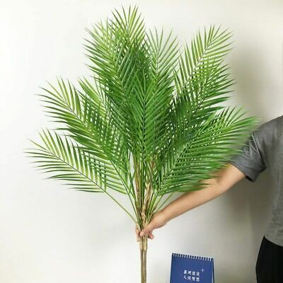 £5.45 • Buy Palm Plastic Plants Artificial Tropical Fake Indoor Tree Branch Plant Leaves
