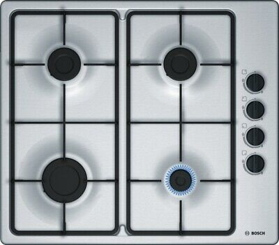 £219.99 • Buy Bosch PBP6B5B60 Serie 2 Stainless Steel Gas Hob With Side Manual Controls