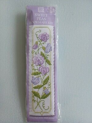 £7.75 • Buy Brand New, Textile Heritage, Counted Cross Stitch Bookmark Kit. 'sweet Peas'.