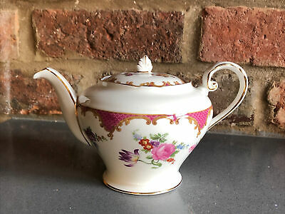 £60 • Buy Vintage Aynsley Pink Floral Rose Teapot 2 Cup 1930s Ex Con Cafe Afternoon Tea