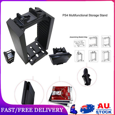 AU38.29 • Buy Vertical Stand Cooling Fan With Game Storage For PS4 Pro Slim Xbox One
