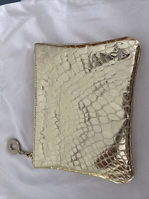 £25 • Buy Aspinal Of London Gold Croc Effect Leather Pouch New In Box