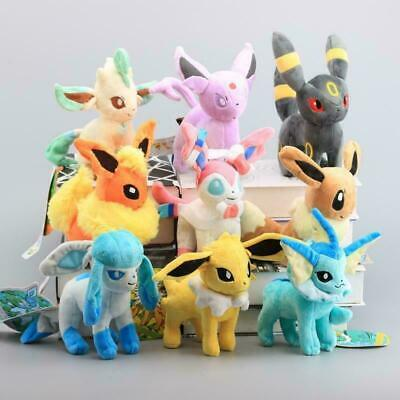 £37.99 • Buy Eevee Sylveon 9CPS Evolution Umbreon Leafe Plush Doll Toy Gift 20cm Figures
