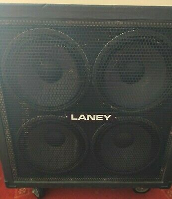£95 • Buy Laney 4x12 Guitar Cabinet, HH Speakers, 16 Ohm, Metal Grill, Used