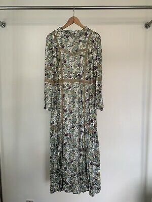 £35 • Buy LAURA ASHLEY Floral And Lace Detail Bohemian Maxi Dress, Size 16. Used