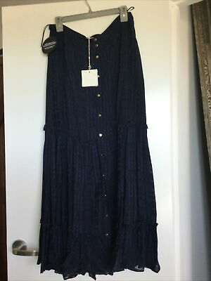 AU150 • Buy Sass And Bide Mr Moltarde Skirt Navy 44/14 New With Tags