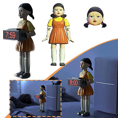 AU61.99 • Buy 【Pre Sale】Squid Game Alarm Clock Red Light Doll Clock Funny Doll Home Alarm Gift
