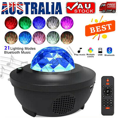 AU30.96 • Buy Bluetooth LED Galaxy Starry Night Light Projector Ocean Star Sky Party Lamp Gift