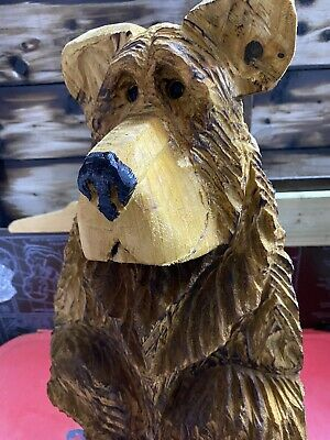 £120 • Buy Chainsaw Carved Bear  Carving Standing Bear Animal Carving Wood Carvings