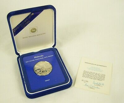 £29 • Buy Malaysia 1976 Proof 1 Ringgit Boxed & COA- Commemorating The Third Malaysia Plan