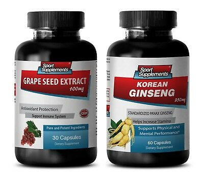 £22.56 • Buy Libido And Testosterone - GRAPE SEED EXTRACT - KOREAN GINSENG COMBO 2B - Red Kor