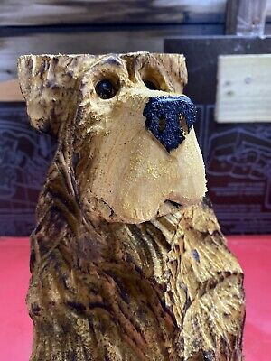 £44.99 • Buy Chainsaw Carved  Wooden Bear In Stump Carved Bear Carvings