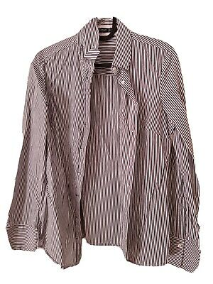 AU2.99 • Buy New No Tags Womens Mango Striped Size S Button Up Top
