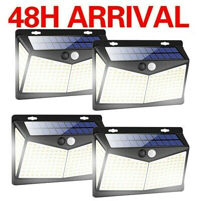 £13.99 • Buy 4PACK 50LED Solar Powered Motion Sensor Wall Garden Lights Outdoor Security Lamp