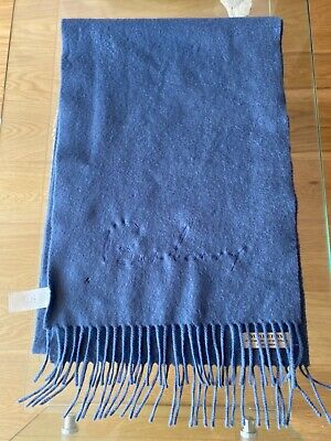 £17 • Buy Burberry 100% Cashmere Blue Scarf Used