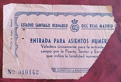 £19.99 • Buy Real Madrid V Manchester United European Cup Sf Ticket 1968