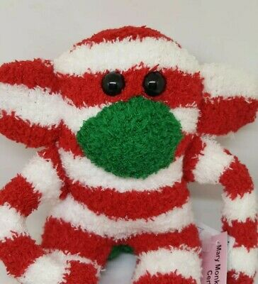£6.99 • Buy Sock Monkey Rocky Christmas Gift Hand Made Soft Toy Red And White Stripe
